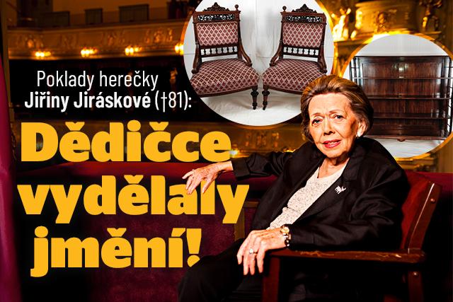 Poklady herečky Jiřiny Jiráskové: Dědičce vydělaly jmění!