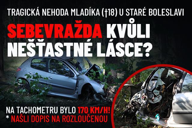 Smrt mladíka při nehodě u Skorkova: Sebevražda kvůli lásce?