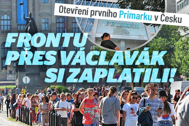 První Primark v Česku otevřel. Firma za frontu platila