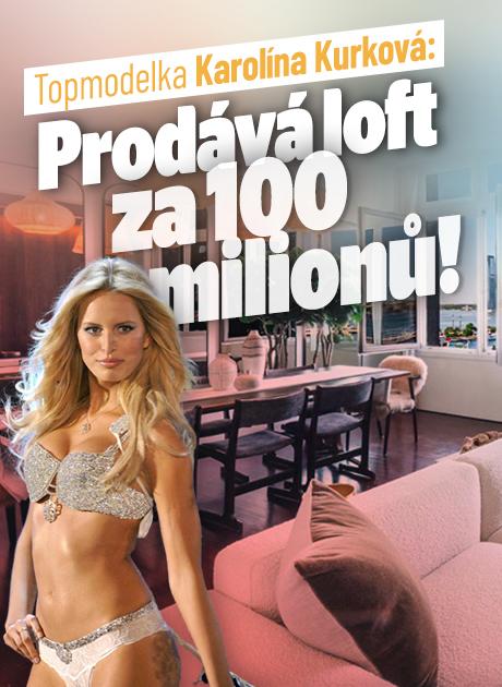 Topmodelka Karolína Kurková: Prodává luxusní loft za 100 milionů!
