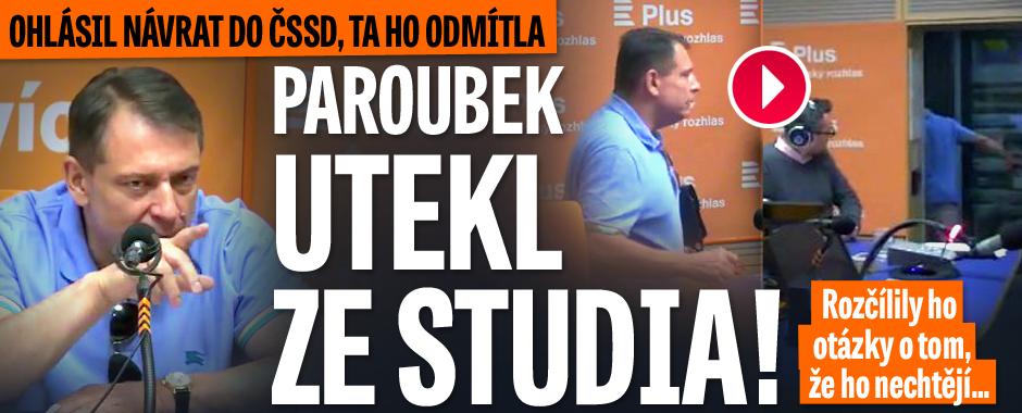 """Nejdřív hrozby, potom odchod: Paroubek """"utekl"""" z živého vysílání"""