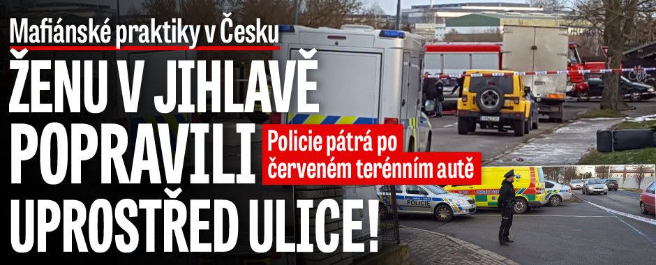 Poprava ženy v Jihlavě uprostřed ulice: Zastřelili ji z projíždějícího auta