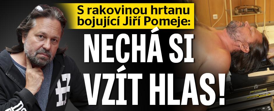 S rakovinou hrtanu bojující Jiří Pomeje: Nechá si vzít hlas!