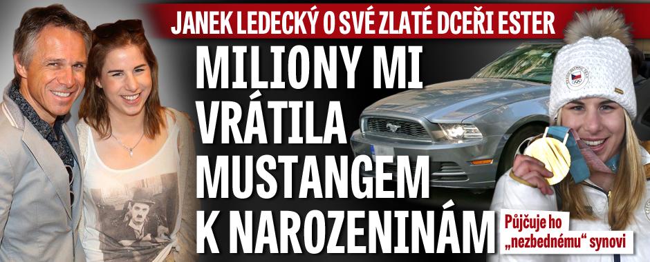 Janek Ledecký o zlaté dceři Ester: Její dětství ho stálo miliony! Vrátila mu to mustangem k narozeninám