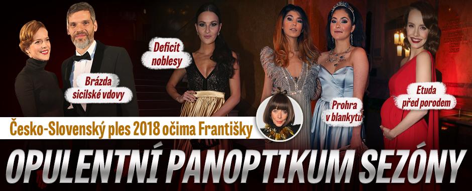 Česko-Slovenský ples - opulentní panoptikum sezóny. A Gott mu chtěl obětovat zdraví...