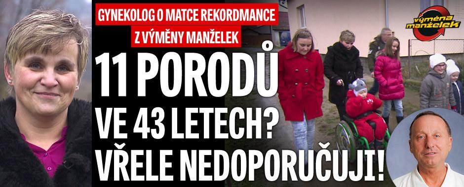 Gynekolog o matce (43) rekordmance z Výměny: 11 porodů vřele nedoporučuji!