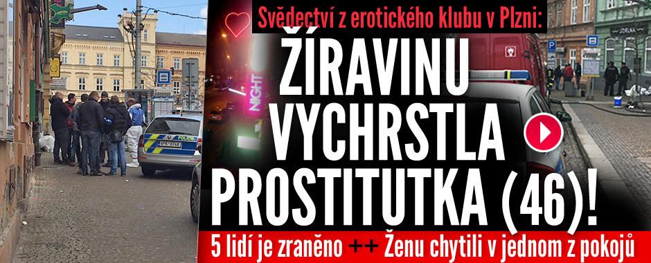 Útok žíravinou v erotickém klubu v Plzni: Pět zraněných! Útočila žena (46)!