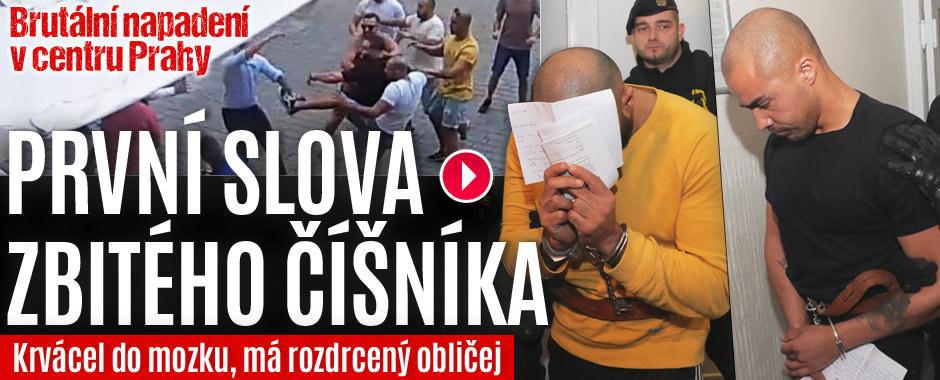 První slova zbitého číšníka po brutálním napadení v centru Prahy: Krvácel do mozku, má rozdrcený obličej