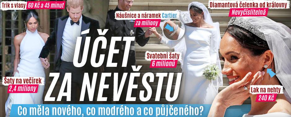 Účet za nevěstu: Šaty za 8,4 milionu, nevyčíslitelná čelenka, diamanty i triky za pár korun