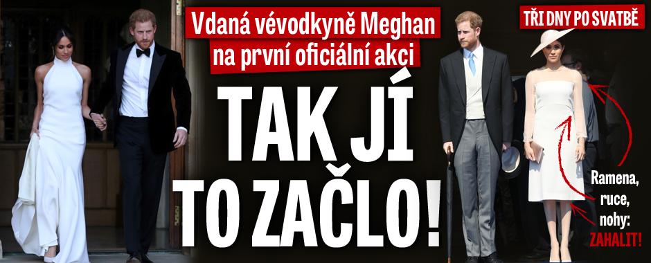 """Konec svobodné herečky Meghan Markle: Už ji navlékli do šatů dle protokolu! Ve """"firmě"""" na plný úvazek"""
