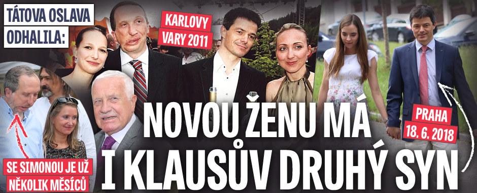 Klausova oslava odhalila: Novou ženu má i jeho druhý syn