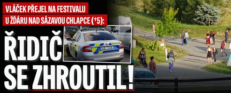 Vláček přejel na festivalu u Žďáru nad Sázavou chlapce (†5): Řidič se zhroutil!