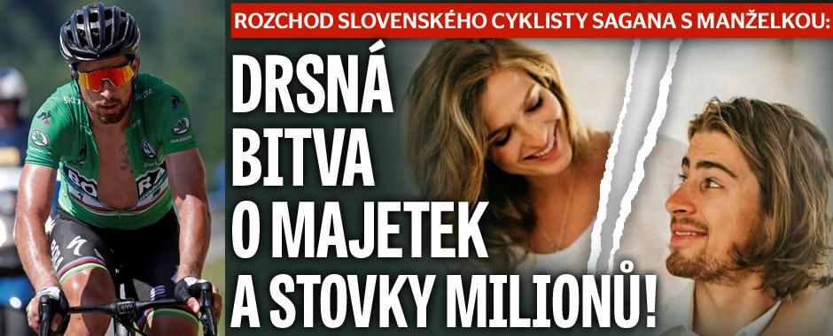 Rozchod cyklisty Sagana s manželkou: Drsná bitva o stovky milionů!