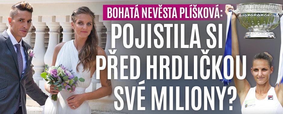 Milionářka Plíšková před sňatkem s Hrdličkou: Pojistila si majetek?