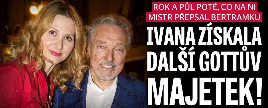Ivana Gottová získala další velkou část manželova majetku! Už jí patří další nemovitost