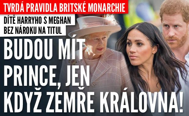 Tvrdá pravidla: Dítě Harryho s Meghan získá titul, jen když zemře královna