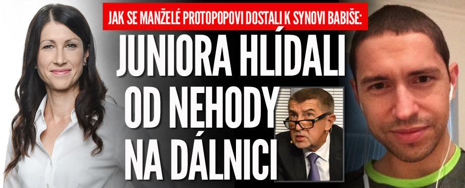 """Manželé Protopopovi z """"únosu"""" Babiše ml.: Juniora hlídali od incidentu na dálnici D1"""