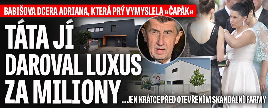 """""""Dárek"""" za Čapí hnízdo? Babišova starší dcera Adriana (39) dostala luxusní vilu"""