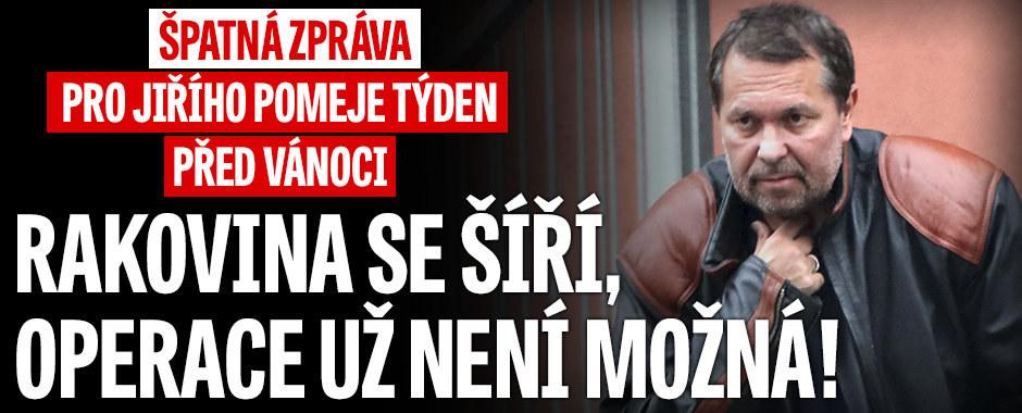 Jiří Pomeje si vyslechl krutou zprávu lékařů: Rakovina se šíří tělem! Nechtějí ho operovat