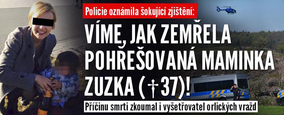 Šokující zjištění policie: Řekli, jak zemřela máma Zuzka (†37), kterou našli v Šárce