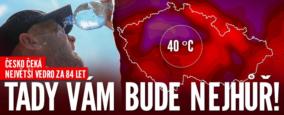Česko rozpálí tropický hic: Ve středu teploty atakují 40 °C, padne český rekord?