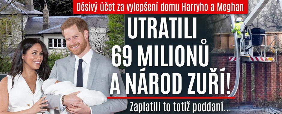 Astronomický účet Harryho a Meghan: Zbytečně vyhodili do vzduchu 70 milionů! Britové zuří!