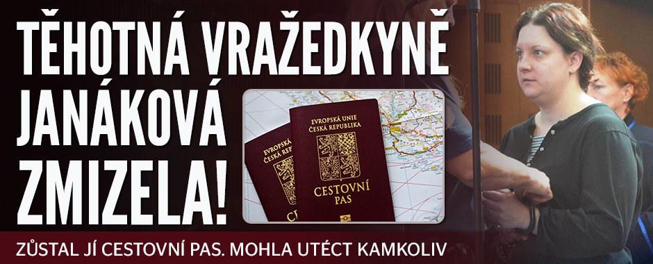 Těhotná vražedkyně Janáková zmizela! Zůstal jí cestovní pas