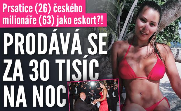 Prsatice (26) českého milionáře (63) jako eskort?! Prostitutka může být na celou noc vaše za 30 tisíc