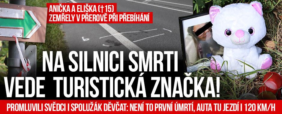 Anička a Eliška (obě †15) zemřely při přebíhání: Na silnici smrti vede turistická značka!