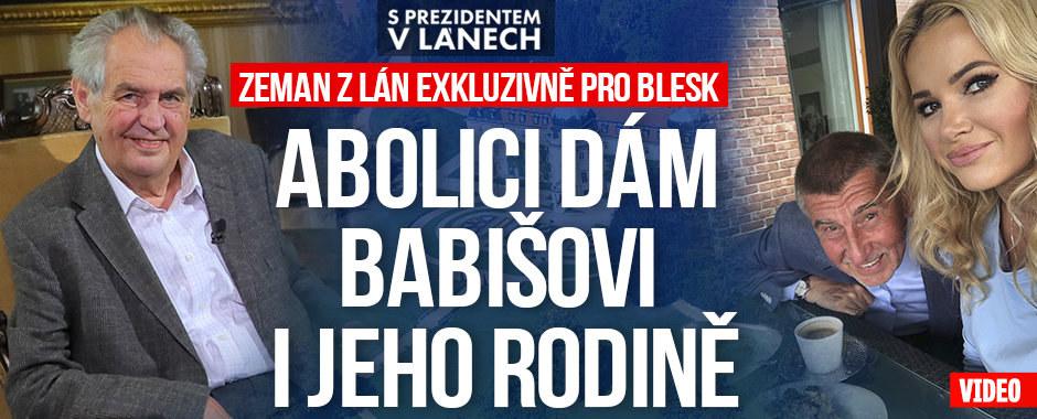 """Zeman pro Blesk: Abolice se týká i Babišovy rodiny. """"Přání smrti"""" má za hyenismus"""