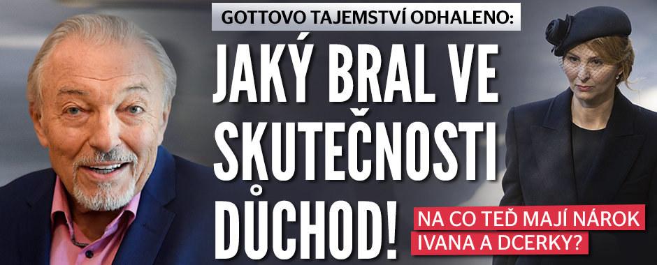 Pravda o důchodu Karla Gotta (†80): Kolik teď bude dostávat Ivana a její dcery!