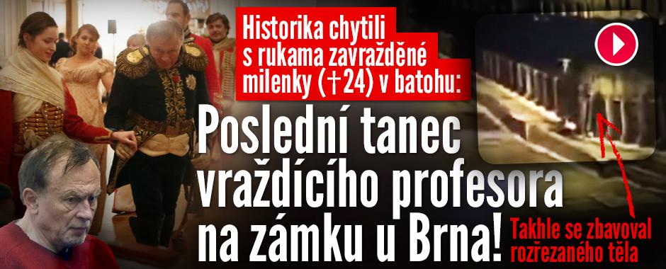 Profesor, který rozčtvrtil milenku (†24): Poslední tanec na zámku u Brna!