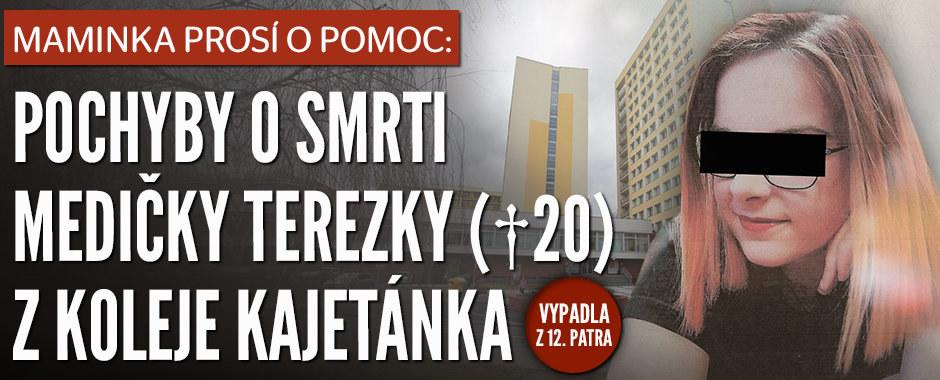 Smrt na koleji Kajetánka: Medička Tereza (†20) se zřítila z 12. patra, máma pátrá na vlastní pěst!