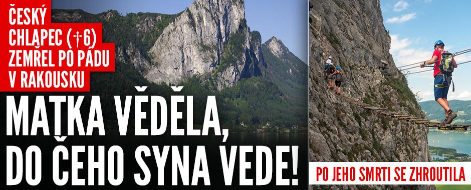 V Rakousku zemřel český chlapec (†6). Uklouzl a padal 60 metrů, matka se zhroutila