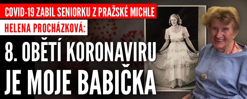 Covid-19 zabil seniorku (†91) z pražské Michle. Osmá oběť je moje babička, říká vnučka Helena Procházková